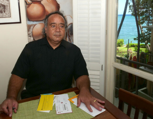 Virgil Stinnet, President of the National Federation of the blind, at his home in Honolulu Wednesday, July 29, 2020. (Ronen Zilberman photo Civil Beat)