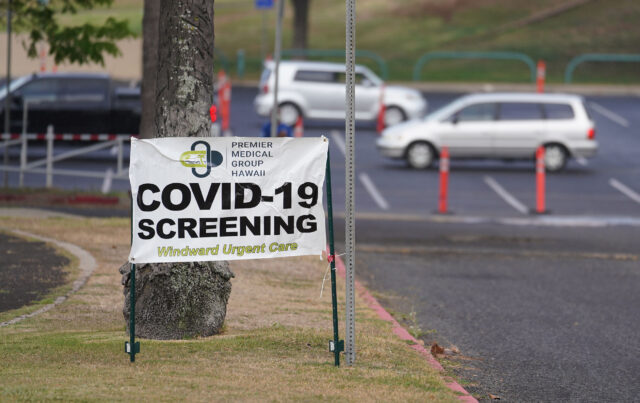 COVID-19 testing by Premier Medical Group Hawaii at Kakaako Waterfront Park. August 9, 2020