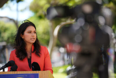 Congresswoman Tulsi Gabbard press conference about contact tracing whistleblower that came forth and shared about a future congressional inquiry into the matters. August 14, 2020