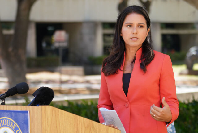 Congresswoman Tulsi Gabbard press conference announcing a future congressional inquiry into whistleblower Dr. Jennifer Smith's accusations. August 14, 2020