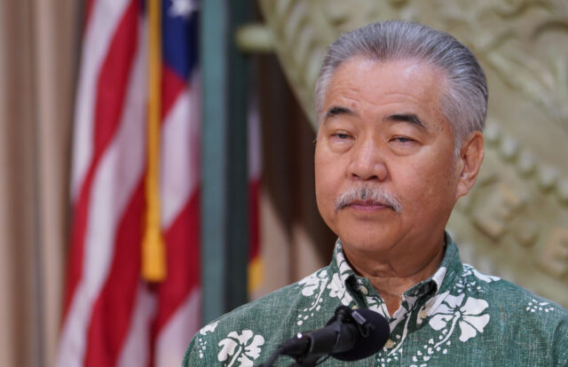 Governor David Ige during press conference where he mentioned measures he was going to veto. August 31, 2020