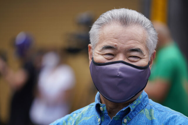 Governor David Ige before the surge COVID-19 testing press conference. September 1, 2020