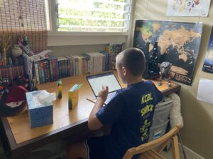 Distance Learning Means 'Musical Chairs' For Windward Oahu Family