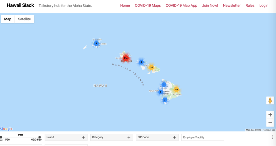 The Most Comprehensive Hawaii COVID-19 Maps Come From This 'Data Geek'
