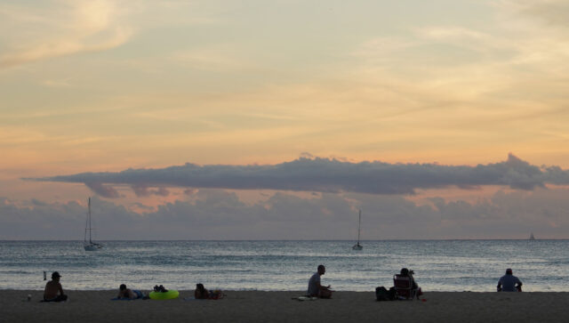 For the most part i observed most people on the beach watching and enjoying the sunset following the rules and practicing social distancing during the reopening of parks and beaches after surge in COVID-19 cases. September 13, 2020