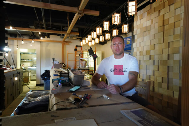 Restaurateur Thomas Ray in his new Izakaya concept restaurant called Heiho House.