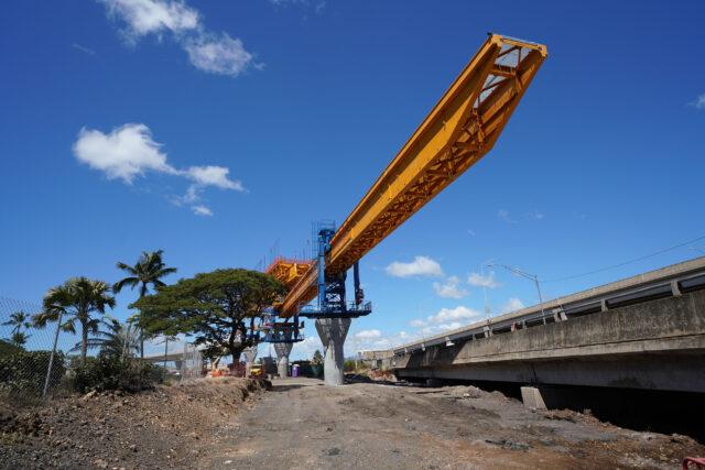 HART Rail guideway heads towards Middle Street thru Keehi Lagoon Beach Park area near Nimitz. September 17, 2020