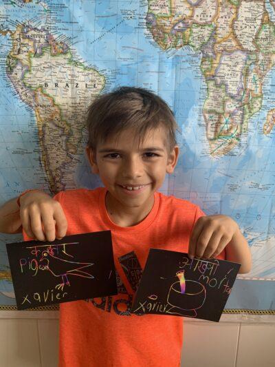 Xavier Malji, distance learning, school, education, Manoa Elementary, New Classroom