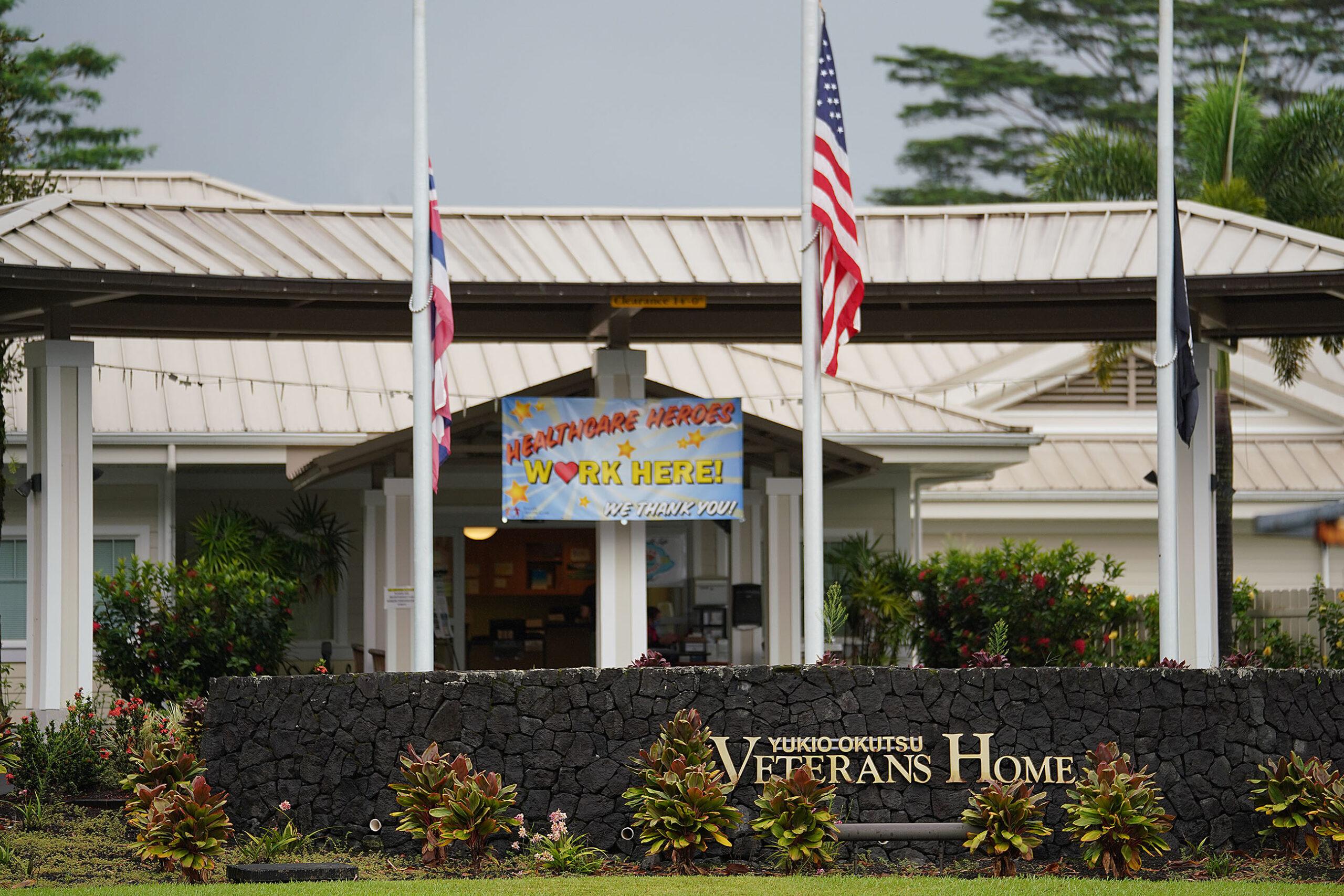 Yukio Okutsu Veterans Home Hawaii island Half Mast COVID19 scaled.'