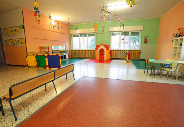 playing room of a school for kids without people