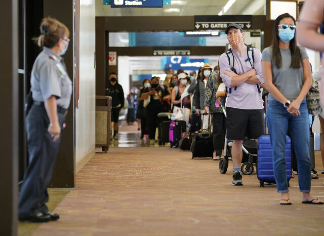 Daniel K. Inouye International Airport during COVID-19 pandemic as Hawaii reopens to transpacific arrivals on October 15, 2020