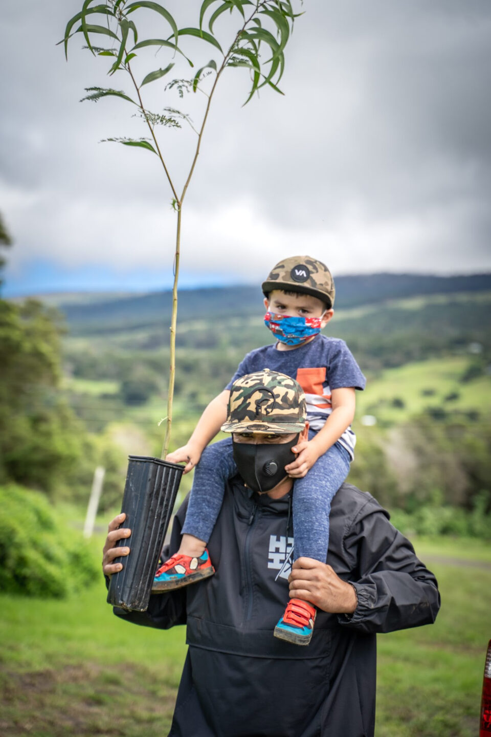 Volunteers and staff joined at public and private properties on Moloka'i, Lāna'i, Maui, Hawai'i, Kaua'i and O'ahu yesterday, October 30, to plant trees and other plants. Hundreds of volunteers planted thousands of plants at dozens of sites across the state.