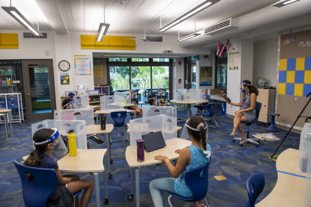 Punahou, school, distance learning, safe classroom