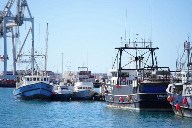 Fishing Boats near Pier 38 at Honolulu Harbor.