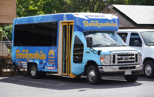 Hawaii Literacy Bookmobile parked near Kukui Street.