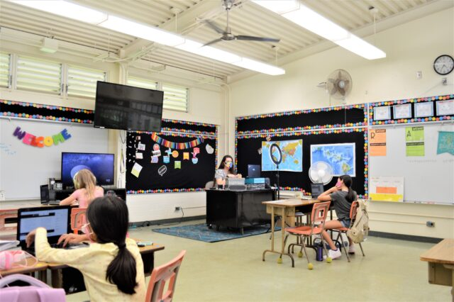 Kaneohe El, student, classroom, distance learning, education, school
