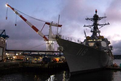 USS Daniel Inouye Begins Sea Trials