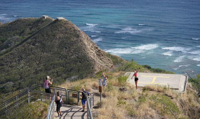 Diamond Head trail opened on December 17, 2020 after some changes were made to accomodate public enjoying this popular hike during COVID-19 pandemic.
