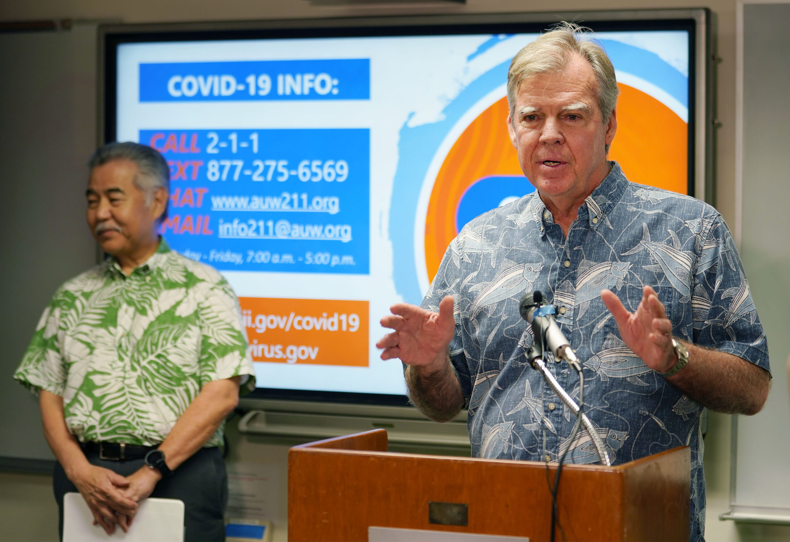 <p>State Health Director Bruce Anderson spoke frequently at press conferences with Gov. David Ige as the pandemic reached Hawaii in the spring. He stepped down months later after a whistleblower exposed flaws in the state's contact-tracing program.</p>