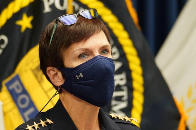 Honolulu Police Chief Susan Ballard speaks to media about the recent Ahuimanu shooting death on December 28, 2020