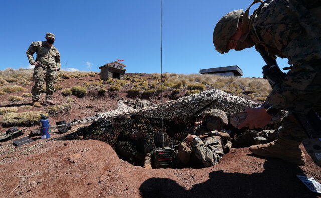 US Army and US Marines participate in joint training at Pohakuloa Training Area, Hawaii island. September 24, 2020