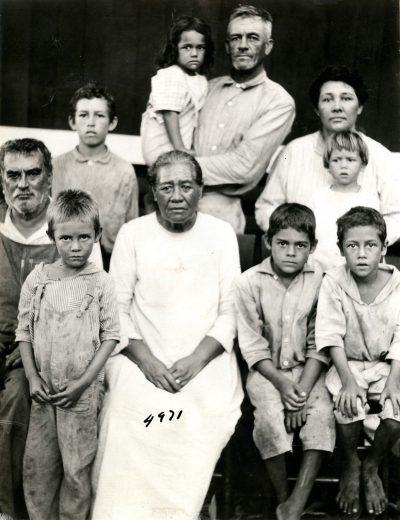 Bishop Museum. Duvauchelle family portrait.