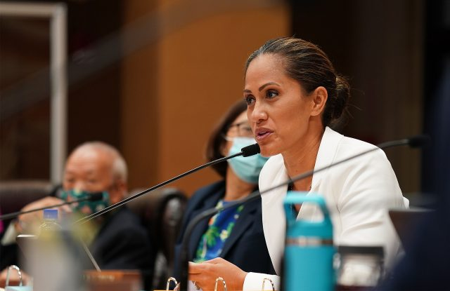 Honolulu City Council member Andria Tupola speaks during council meeting held at Honolulu Hale.