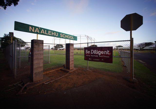 Naalehu School on the island of Hawaii during the COVID-19 pandemic.
