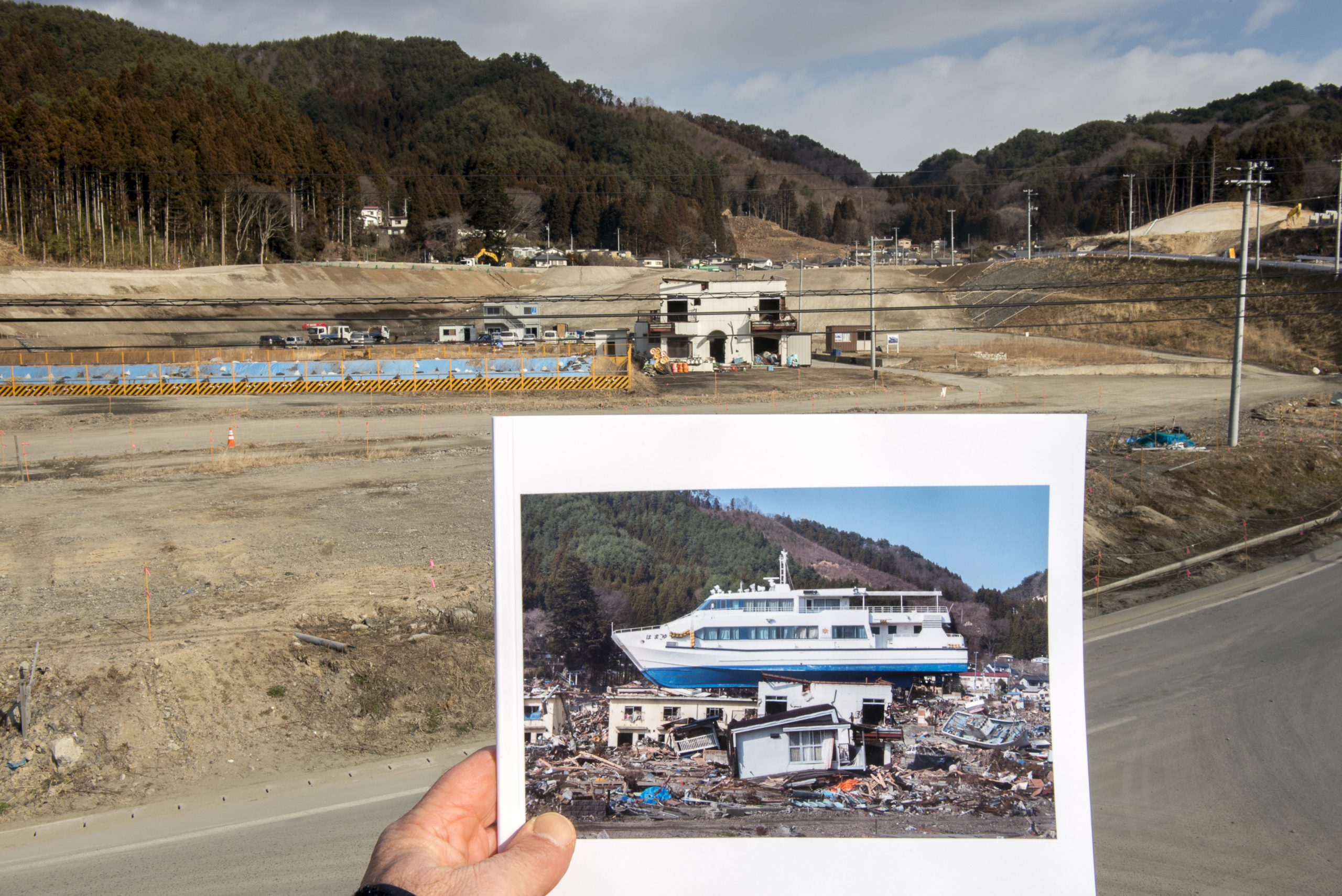 <p>A visit to the same site in the Tohoku region five years after the quake.</p>