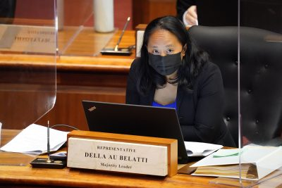 House member Della Au Belatti during floor session amidst a COVID-19 pandemic. March 9, 2021