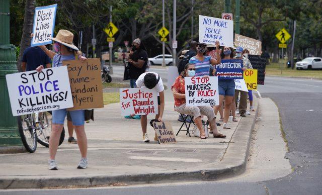 'Stop Murders by Police!' demonstration held in Waikiki.