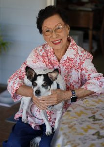 Hawaii politician Pat Saiki at her residence.