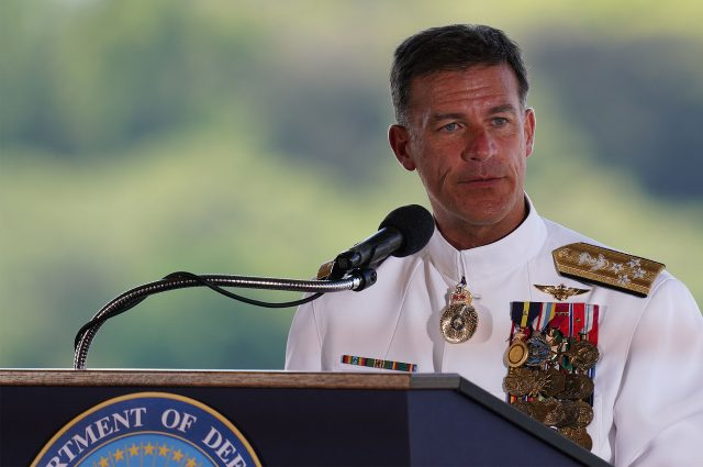 Indo-Pacific Command Change of Command Ceremony, Admiral John Aquilino.