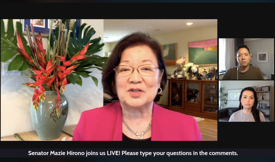 Hirono Dishes On Rail, Anti-Asian Hate And Vaccine-Hesitant Trumpers