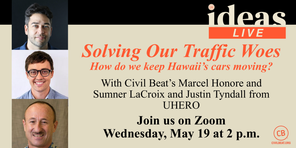 PSA – EVENT IDEAS Live: Solving Our Traffic Woes 5/19