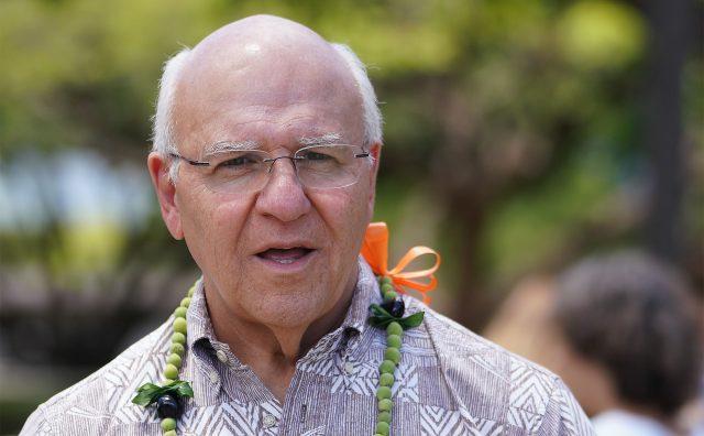 Mayor Rick Blangiardi at the Waikiki Shell.