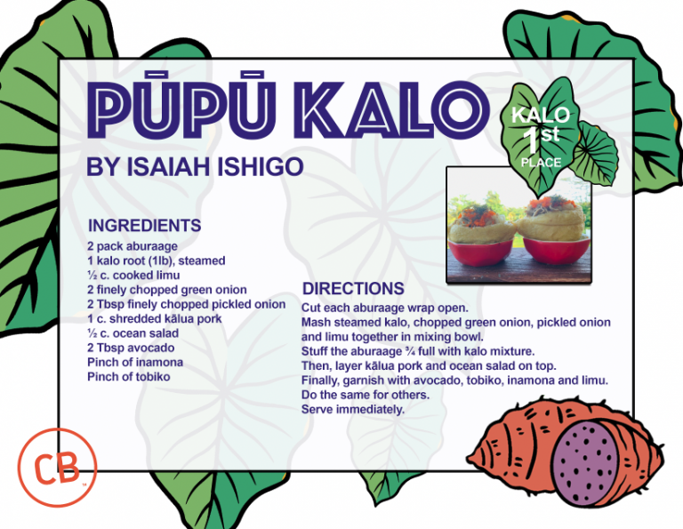 Kalo 1st Place – Pupu Kalo