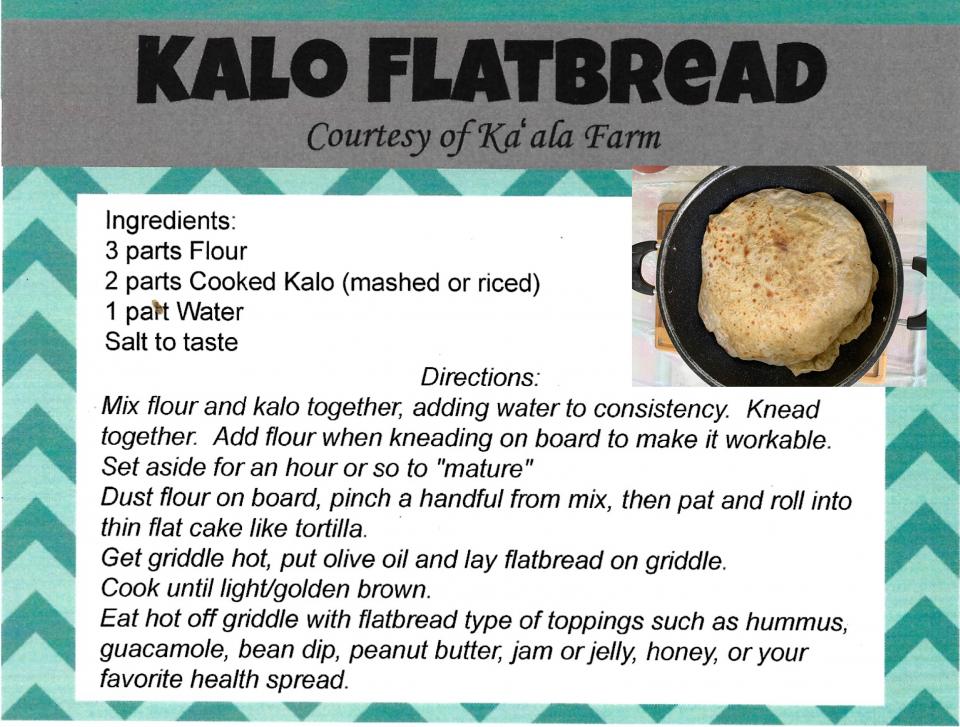 Kalo Flatbread