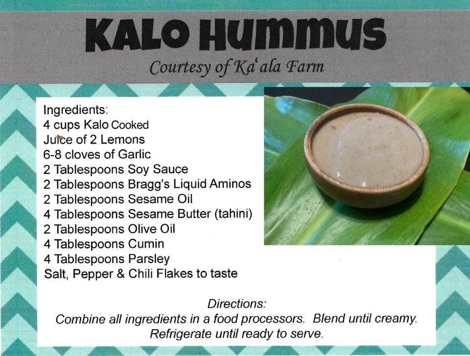 Kalo Hummus – Kaala Farms