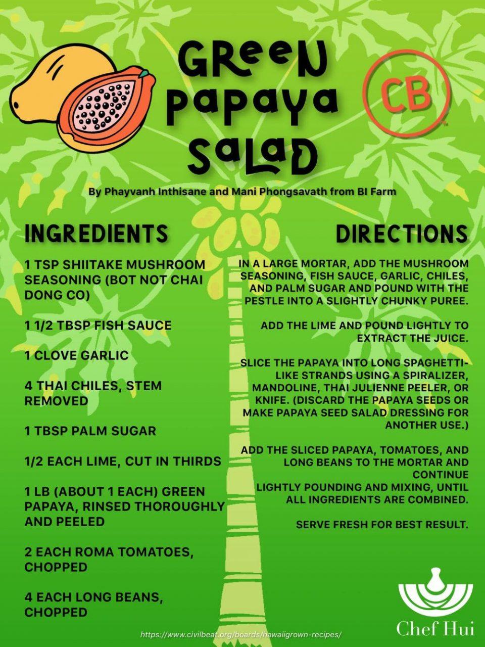 Green Papaya Salad – Chef Hui