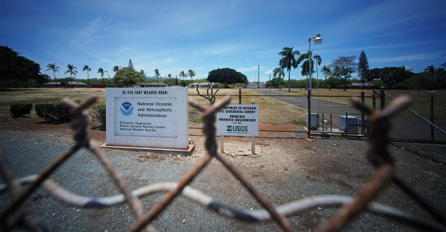 Pacific Tsunami Warning Center located at 91-270 Fort Weaver Road.