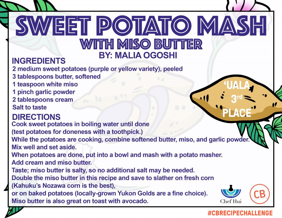 Sweet Potato Mash w/ Miso Butter