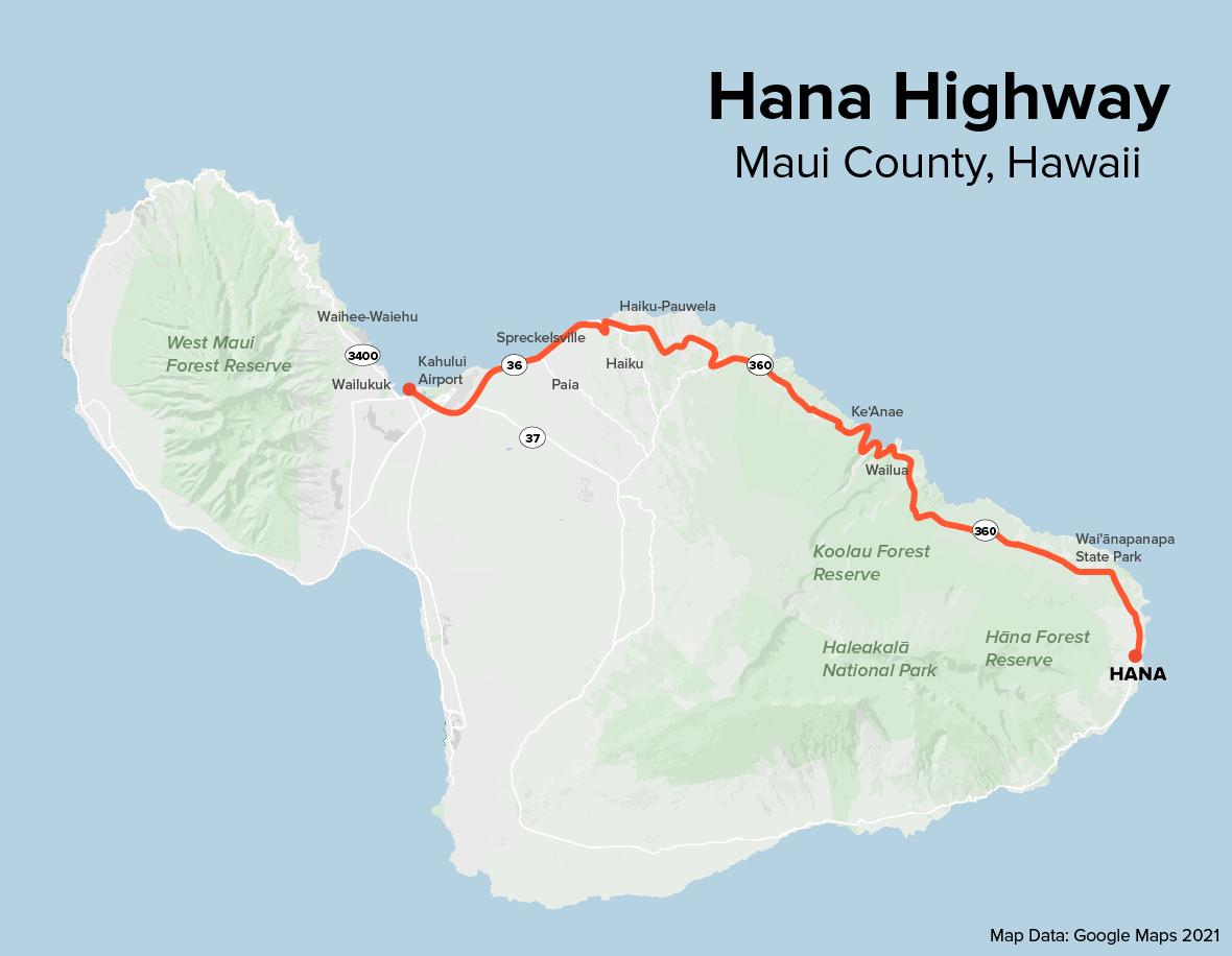 From Hana Highway Road to Hana