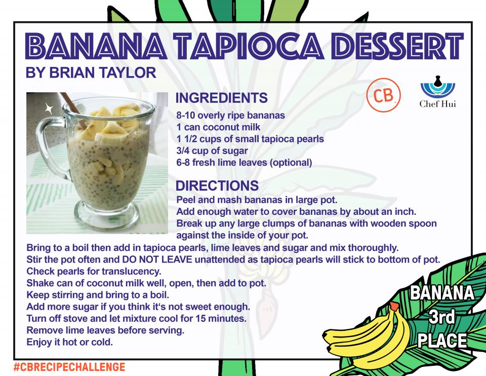 Banana Tapioca Dessert – 3rd Place