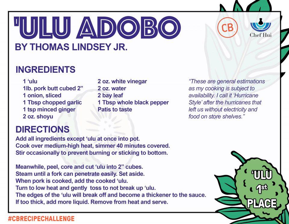 Ulu Adobo – 1st Place