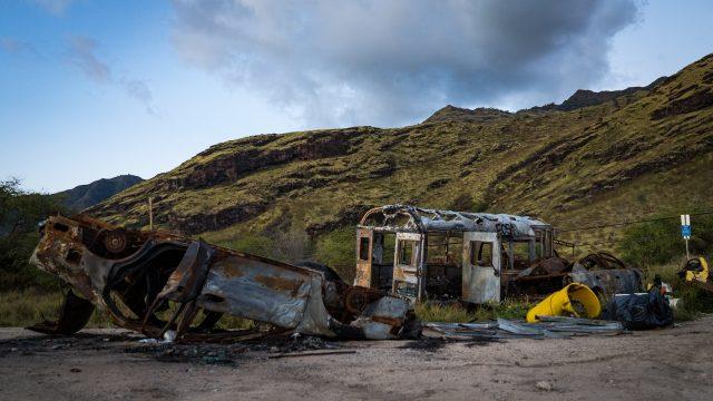 Westside Parks Keaau Beach Park Abandoned Vehicles Illegal Dumping