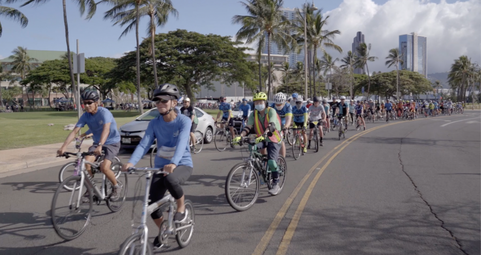 Zachary Manago's Ride in Paradise celebrated its 10th anniversary with hundreds of bike riders joining together to raise awareness of bike safety and sharing the roads.