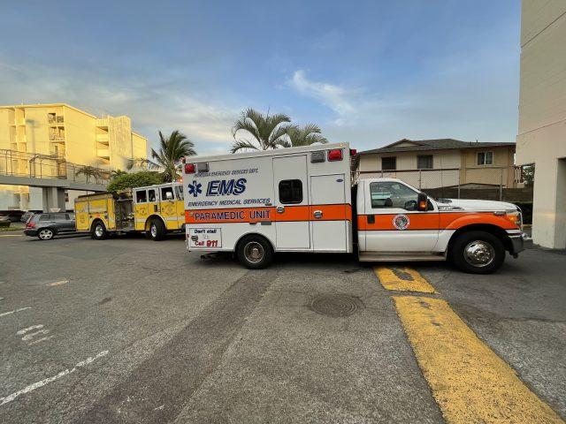 Honolulu EMS vehicles in Kalihi