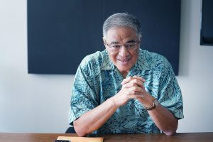 President and CEO of the Hawaii Lodging and Tourism Association, Mufi Hannemann.