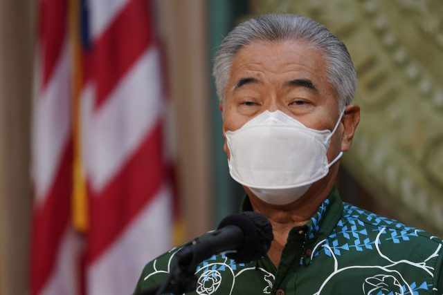 Governor David Ige holds a press conference with Department of Education Superintendent Keith Hayashi and Department of Health Director Elizabeth Char.